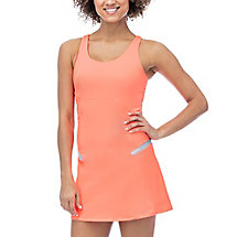 platinum criss cross dress in peach