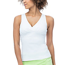 court couture ruched tank in white