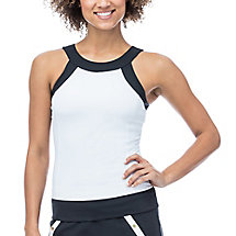 court couture halter tank in white