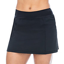 heritage pleated skort in black