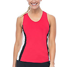heritage racer back tank in red