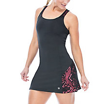 ace racer back dress in black