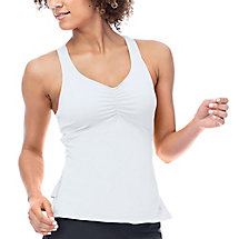 ace racer back tank in white