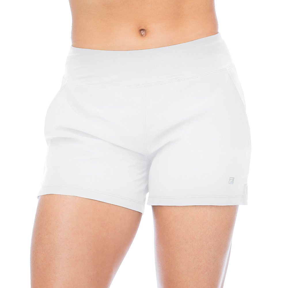 double layer short in white