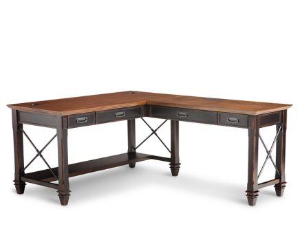 Hartford Open L Shaped Desk L Shaped Office Desk With Hutch