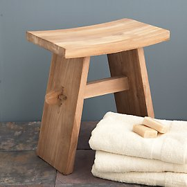 Transform your bath experience with the natural beauty of this eco-friendly teak stool. The oil in teak makes it permanently resistant to direct or indirect bathroom moisture. Made from sustainably gr