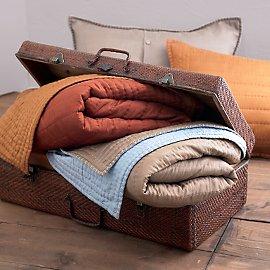 Hand-Loomed Silk Koko Quilt or Sham - Fair Trade Bedding - Gaiam