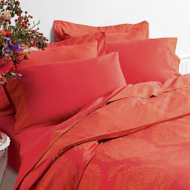 Stunning jaquard bedding in sunwashed color
