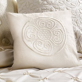 Balinese Embroidered Silk Pillow Cover - Pillows - Bedroom - Eco Home & Outdoor - Gaiam