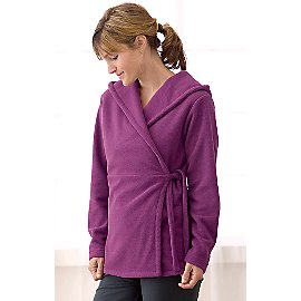 Eco Fleece Hooded Wrap Jacket - Gaiam