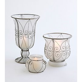 Gaiam :  gaiam frosted glass vases frosted glass candle holder
