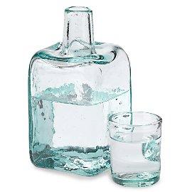 Bedside Water Bottle & Glass - Gaiam