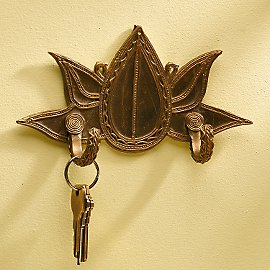 Brass Bodhi Leaf Hook - Decor - Living Space - Eco Home & Outdoor - Gaiam