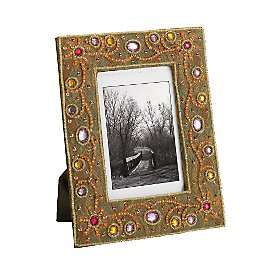 Gaiam :  india gaiam rhinestone beaded frame frame beaded