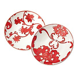 Gaiam :  plate gaiam painted red plates dishes gaiam