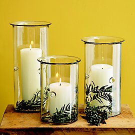 Hurricane Lanterns - Set of 3 - Gaiam :  glass candle holder lantern candle
