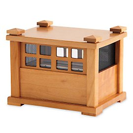 Engage the relaxing sound of rainfall whenever and wherever you want. This beautiful maple box releases tiny steel beads which drop onto chimes to produce a sound reminiscent of falling rain. Ideal fo :  rosewood chime gaiam maple
