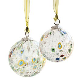 Gaiam :  india gaiam cracked glass ornaments christmas ornament