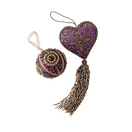 Gaiam :  india gaiam purple jeweled ornaments jeweled ornament