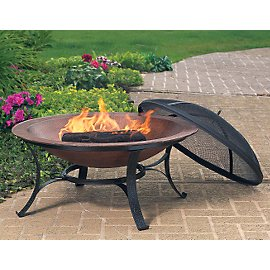 Copper Fire Bowl: Firebowl From Copper & Recycled Cast Iron - Gaiam