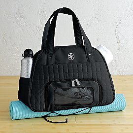 Everything Fits Gym Bag - Eco-Chic Yoga Bag - Gaiam :  gym bag gaiam ecochic yoga mat bag