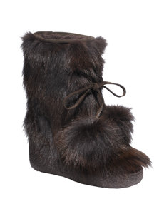 manola brown wedge boot