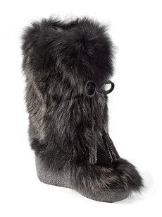 nu foxy swarovski black boot