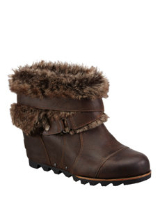 joan of arctic brown ankle boot