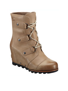 joan of arctic dark fossil wedge boot