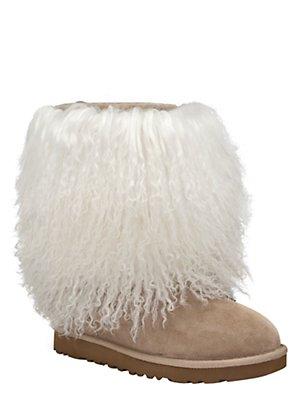 sheepskin cuff boot