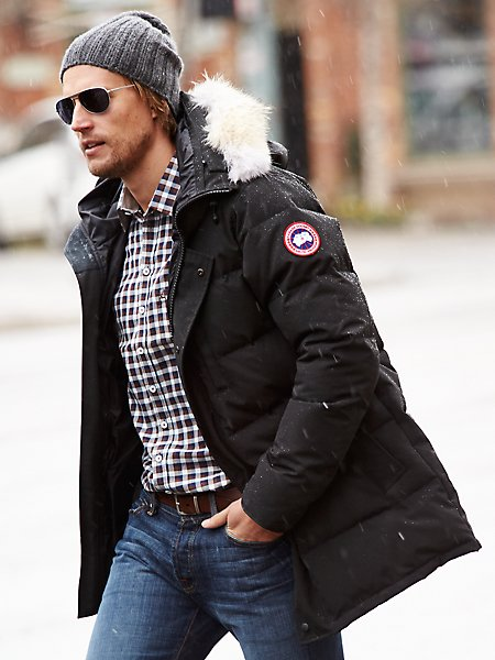 canada goose down jacket in men's jackets & coats