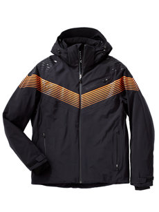 warp speed black/orange jacket