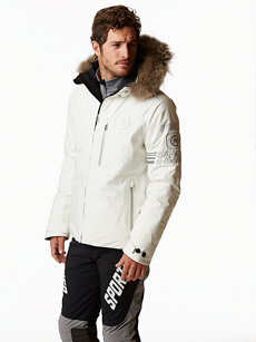 run-tp jacket with fur