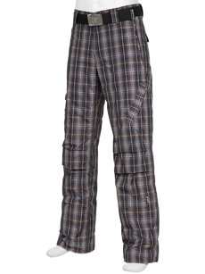 aros plaid insulated ski pant