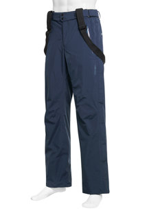 gore-tex side zip navy insulated ski pant