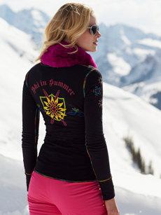 ski summer black henley