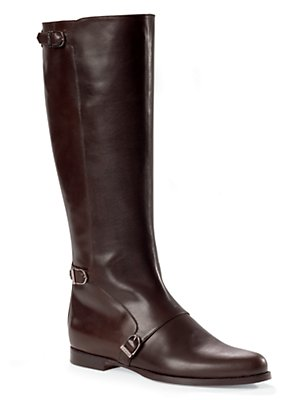 laila brown knee high riding boots