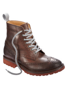leather wingtip boot