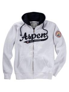 aspen white hoodie