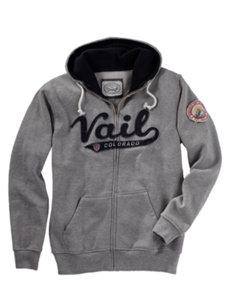 men's vail grey hoodie