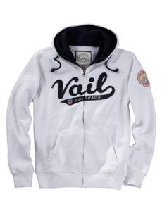 men's vail white hoodie