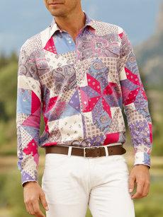 alfredo patchwork shirt