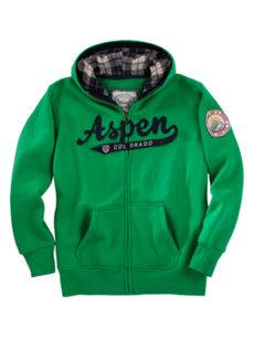 juniors aspen green hoodie