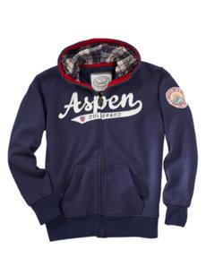 juniors aspen navy hoodie