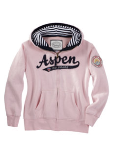 juniors aspen pink hoodie