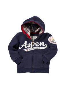 baby aspen navy hoodie