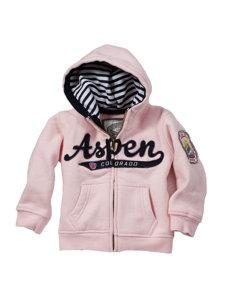 baby aspen pink hoodie