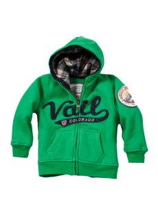 baby vail green hoodie