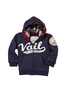 baby vail navy hoodie