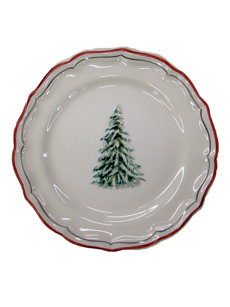 alpine dessert plates: set of 4